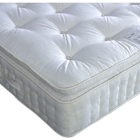 Signature Pillow Top 2000 Pocket Sprung Natural Mattress Single