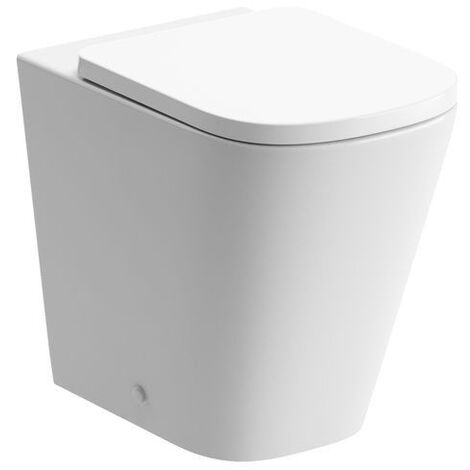 Signature Poseidon Back to Wall Rimless Toilet 530mm Projection - Soft Close Seat