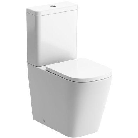 Signature Poseidon Close Coupled Rimless Toilet with Push Button Cistern - Soft Close Seat