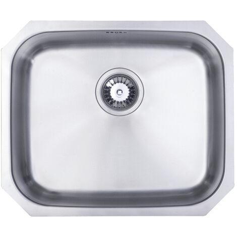 Signature Prima 1.0 Bowl Undermount Kitchen Sink with Waste Kit 530 L x 450 W - Stainless Steel