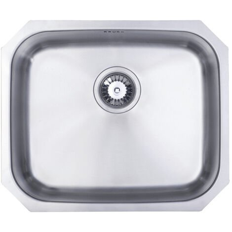 Signature Prima 1.0 Bowl Undermount Kitchen Sink with Waste Kit 530mm L x 450mm W - Stainless Steel