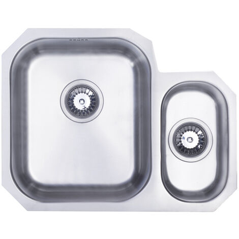 Signature Prima 1.5 Bowl Undermount Kitchen Sink LH with Waste Kit 594 L x 460 W - Stainless Steel