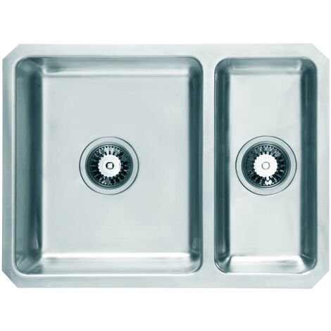 """main image of """"Signature Prima 1.5 Bowl Undermount Kitchen Sink with Waste Kit 600mm L x 450mm W - Stainless Steel"""""""