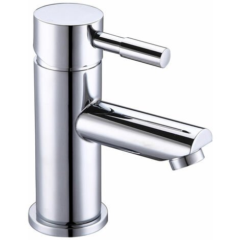 Signature Primo Cloakroom Basin Mixer Tap Single Handle with Click Clack Waste - Chrome