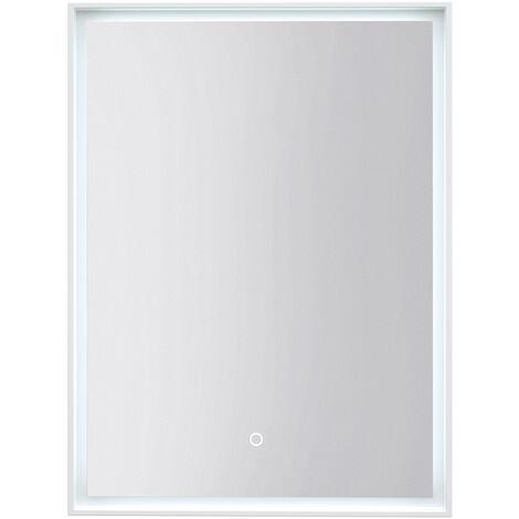 Signature Rosie Rectangular LED White Frame Bathroom Mirror 800mm H X 600mm W