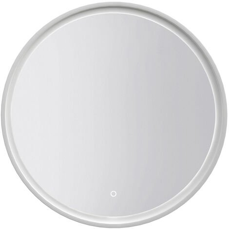 Signature Rosie Round LED White Frame Bathroom Mirror 800mm Diameter