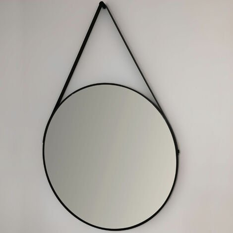 Signature Round Bathroom Mirror 600mm Diameter - Black