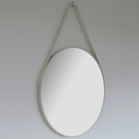 Signature Round Bathroom Mirror 600mm Diameter - White