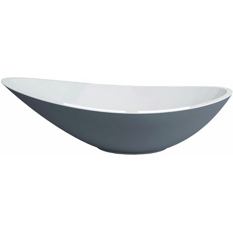 Signature Sit-On Countertop Basin 564mm Wide 0 Tap Hole - Grey