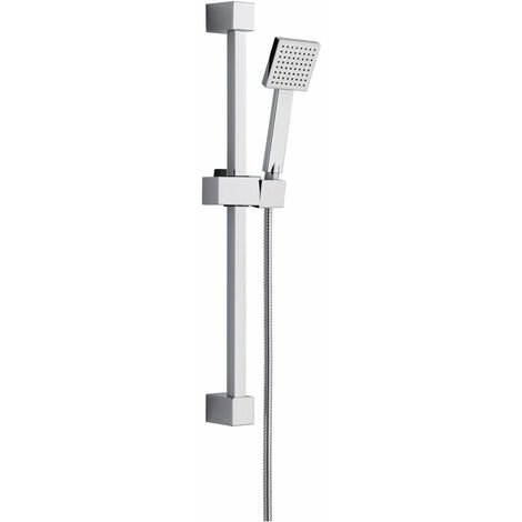 Signature Square Shower Slide Rail Kit with Single Function Handset - Stainless Steel