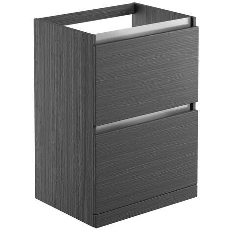 Signature Stockholm Floor Standing 2-Drawer Vanity Unit 600mm Wide - Graphitewood