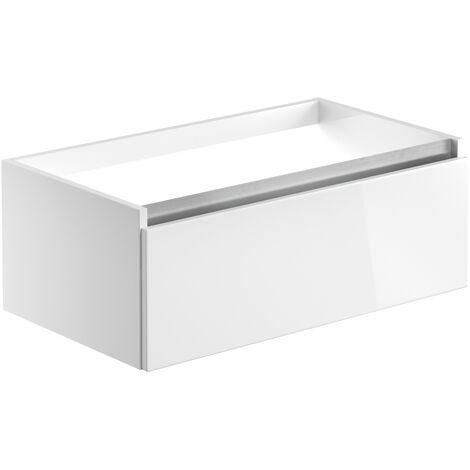 Signature Stockholm Wall Hung 1-Drawer Vanity Unit 815mm Wide - White Gloss