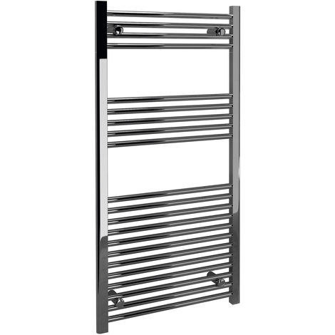 Signature Straight Heated Towel Rail 750mm High x 500mm Wide - Chrome