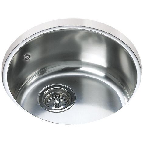 Signature Teka 1.0 Bowl Round Undermount Kitchen Sink with Waste Kit 390 L x 390 W - Stainless Steel