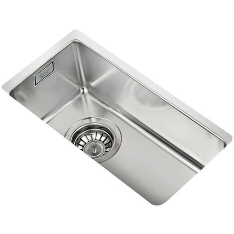 Signature Teka 1.0 Bowl Undermount Kitchen Sink with Waste Kit 217mm L x 437mm W - Stainless Steel