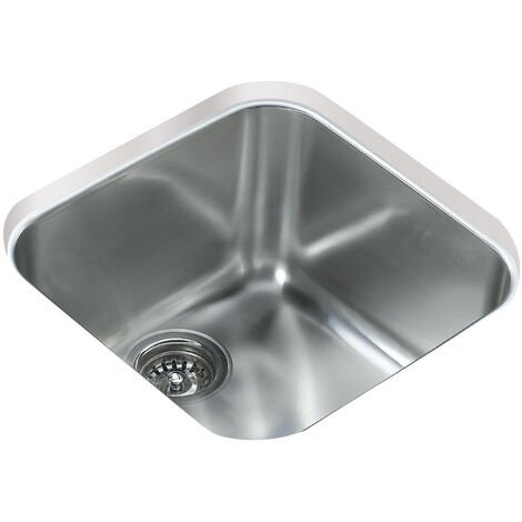 """main image of """"Signature Teka 1.0 Bowl Undermount Kitchen Sink with Waste Kit 424mm L x 424mm W - Stainless Steel"""""""