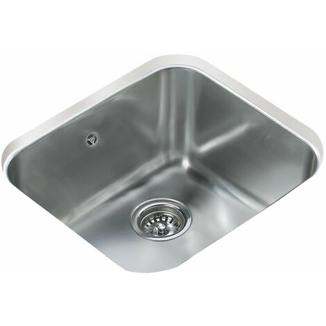 """main image of """"Signature Teka 1.0 Bowl Undermount Kitchen Sink with Waste Kit 479mm L x 429mm W - Stainless Steel"""""""