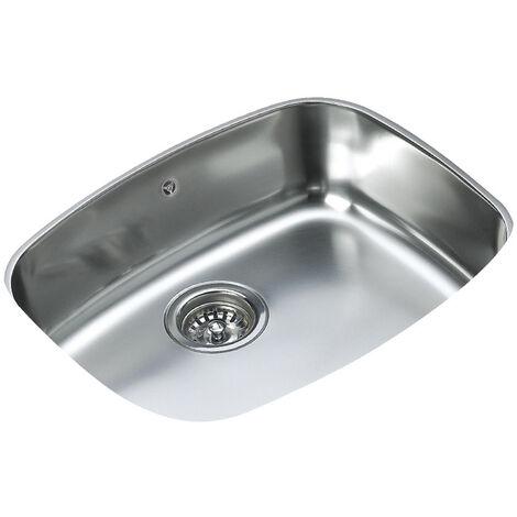 Signature Teka 1.0 Bowl Undermount Kitchen Sink with Waste Kit 522 L x 422 W - Stainless Steel