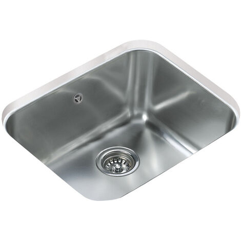 Signature Teka 1.0 Bowl Undermount Kitchen Sink with Waste Kit 530mm L x 430mm W - Stainless Steel