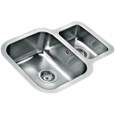 Signature Teka 1.5 Bowl Undermount Kitchen Sink with Waste Kit 624 L x 464 W - Stainless Steel
