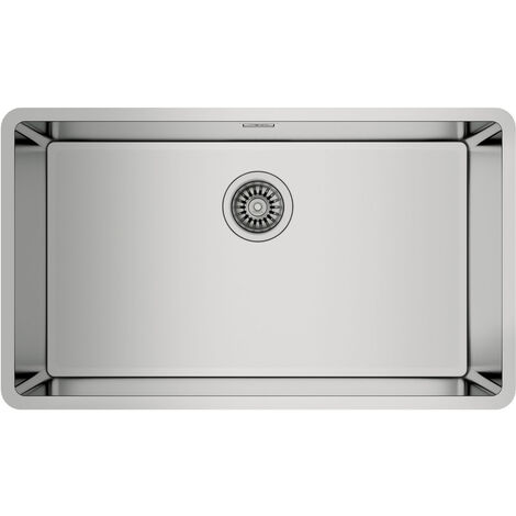 Signature Teka Linea 1.0 Bowl Undermount Kitchen Sink with Waste Kit 750mm L x 440mm W - Stainless Steel