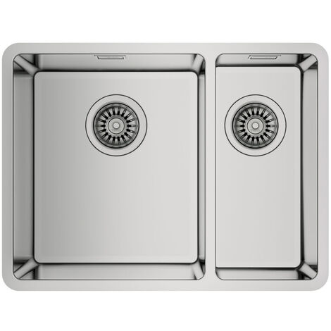 Signature Teka Linea 1.5 Bowl Undermount Kitchen Sink with Waste Kit 580mm L x 440mm W - Stainless Steel