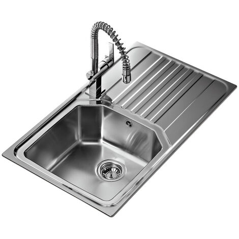 Signature Teka Premium 1.0 Bowl Kitchen Sink with Waste Kit 860 L x 500 W - Stainless Steel