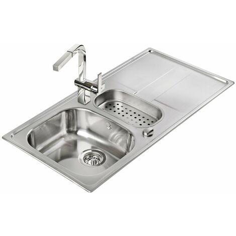 Signature Teka Stena 1.5 Bowl Kitchen Sink with Waste Kit 980 L x 500 W - Stainless Steel