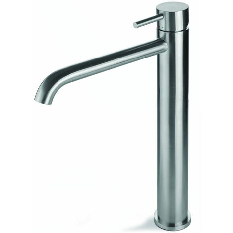 Signature Tiber Tall Basin Mixer Tap Single Handle - Stainless Steel