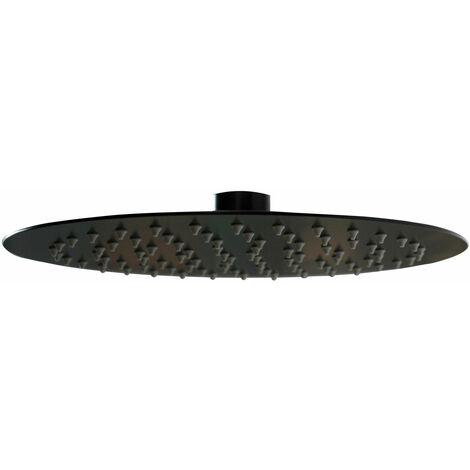 Signature Timea Round Shower Head 250mm Diameter - Black