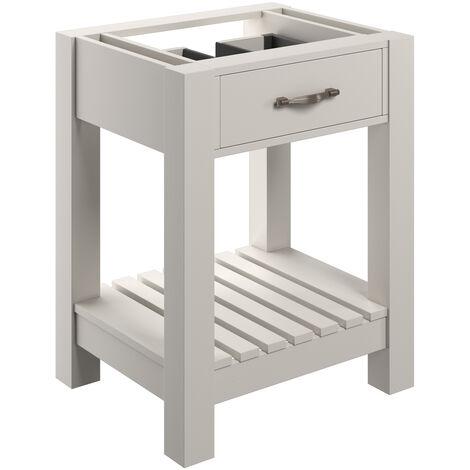 Signature Tronheim Floor Standing 1-Drawer Vanity Unit 600mm Wide - White Ash