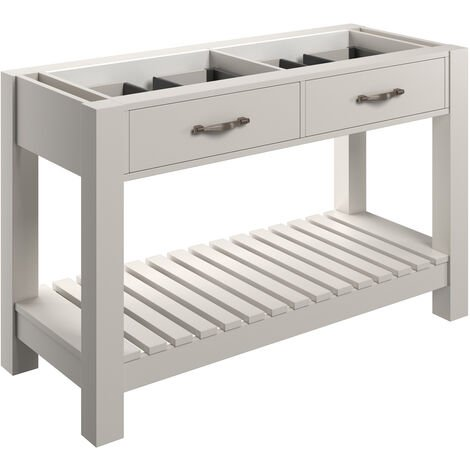 Signature Tronheim Floor Standing 2-Drawer Vanity Unit 1200mm Wide - White Ash