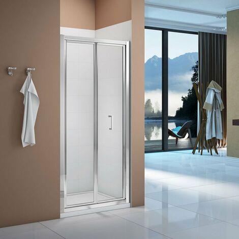 Signature Vibrance Bi-Fold Shower Door 1000mm Wide - 6mm Glass