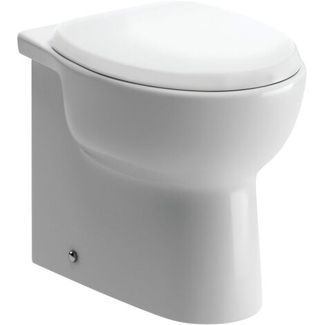 Signature Zeus Back To Wall Toilet 515mm Projection - Soft Close Seat