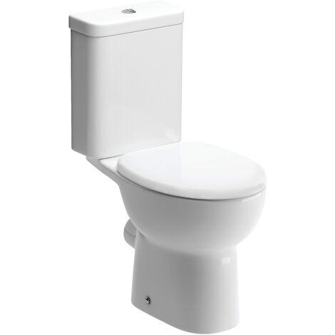 Signature Zeus Close Coupled Toilet with Push Button Cistern - Soft Close Seat