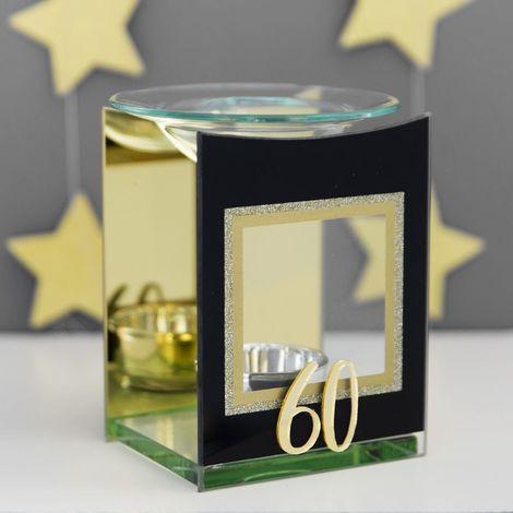 Signography Gold Glitter Glass Oil Burner - 60