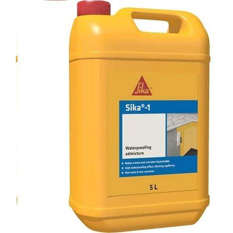 Sika-1 Aditivo impermeabilizante de fraguado 5 Kg Amarillo