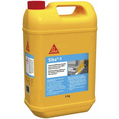 Sika-1, Impermeabilizante líquido para mortero y hormigón, exento de cloruros
