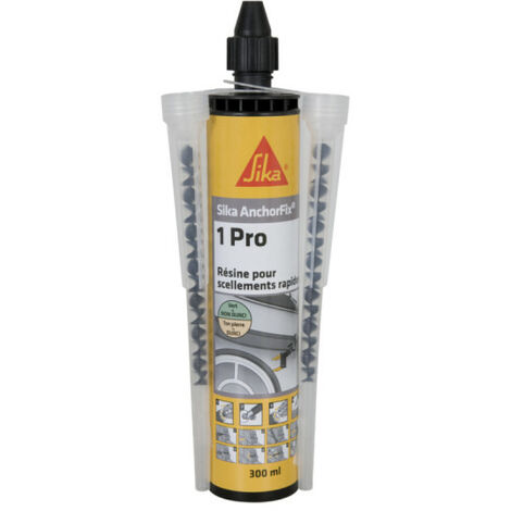 SIKA Anchorfix-1 Evolution Fast Chemical Sealing Resin - Grey - 300ml