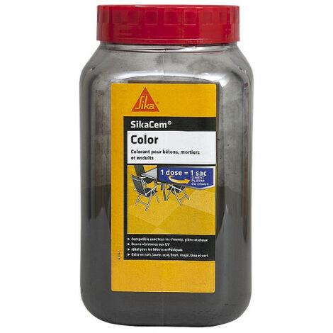 Colorant en poudre pour ciment, chaux et plâtre SIKA SikaCem Color - Noir - 700g