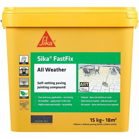"""main image of """"Everbuild Fastfix Charcoal 15kg Paving Jointing Compound All Weather"""""""