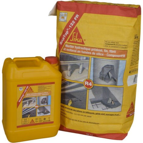 SIKA hydraulic mortar - concrete repair Sikatop 122 FR - Gray - 14kg