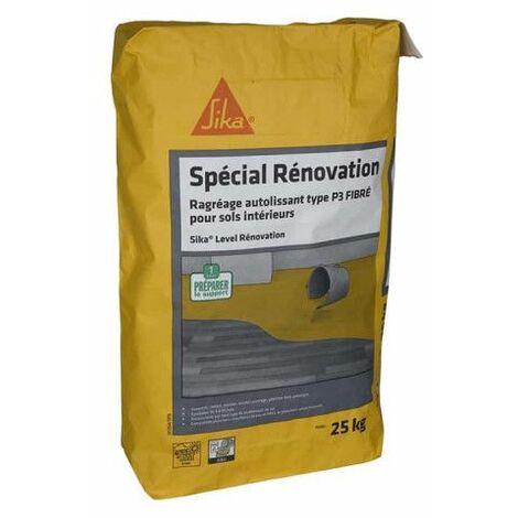 SIKA Level Rénovation compuesto de nivelación fibroso autonivelante - Para suelos nuevos y de renovación de interiore