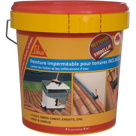 Sika Peinture Imperméable anti-fuites toitures inclinées 4L