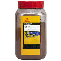 SIKA SikaCem Color cement, lime and plaster powder color - Brown - 700g