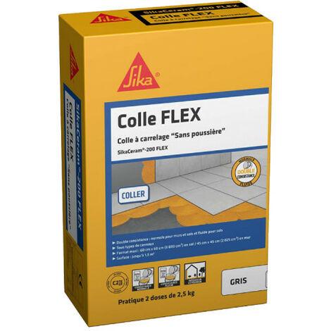 SIKA SikaCeram Adhesivo para baldosas - 200 Flex - Gris - 2,5 kg - Gris