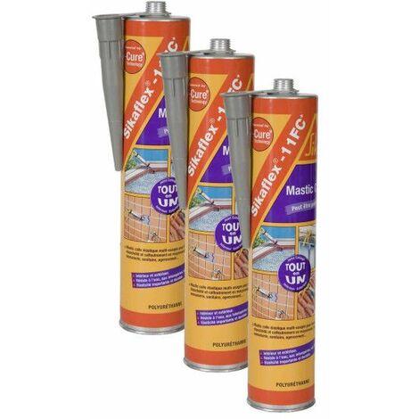 SIKA Sikaflex 11 FC Plus sellador adhesivo de poliuretano - Gris - 380g - Set de 3 - Gris