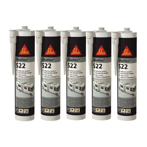 SIKA Sikaflex 522 Caravan - Blanco - 300ml - Juego de 5 adhesivos de masilla Sikaflex SIKA Sikaflex 522 Caravan - Blanco - Blanc