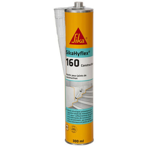 SIKA SikaHyflex 160 Construction Masonry and Concrete Masonry Putty - White - 300ml