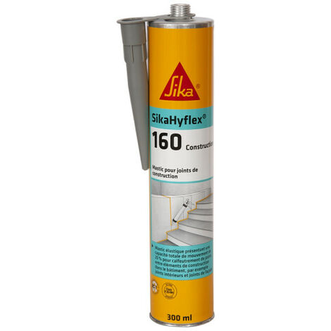 SIKA SikaHyflex 160 Construction Masonry and Concrete Masonry Putty - White - 300ml